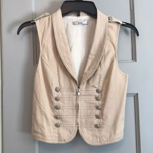Cream color ladies vest from papaya size small